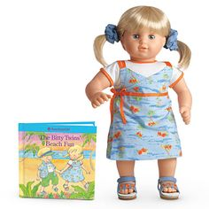 The Fun-in-the-Sun Jumper Set is a Bitty Twin outfit released in 2007 and retired in 2009. Retail cost was $24. The Bitty Twins' Beach Fun: coloring book.