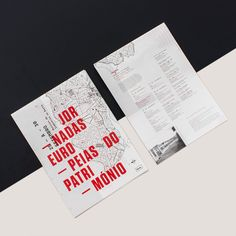 Through the identity developed we wanted to represent the European Heritage Days on the basis of the industrialization traces of Porto. Starting from a general urbanization plan of we chose to use a rough spot to graphically achieve a represent One Pager Design, Layout Design, Editorial Layout, Editorial Design, Branding, Art Direction, Identity, Graphic Design, How To Plan