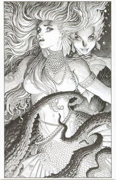 The Sea Witch and The Little Mermaid by Arthur Adams *
