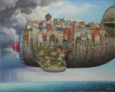 Beautiful illustration by Jacek Yerka