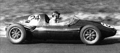 1957 French GP, Rouen-Les-Essarts : Jack Brabham in Cooper-Climax T43, he would share the drive with Mike MacDowel and finished 7th. (ph: f1-fact.com)