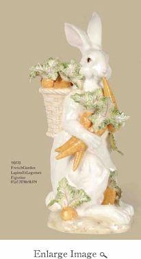 Kaldun & Bogle Lapin Rabbit & Carrots Vase/Figurine