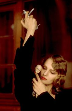 Uma thurman in Henry & June. She was magical in that film, walking away with her little marionette...