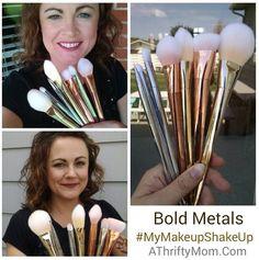 Walmart Bold Metals Makeup Brush Review, #MyMakeupShakeup, #AD