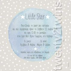 Christening Invitations, Baby Party, Baby Crafts, Little Star, Kids And Parenting, Personalized Items, Stars, Birthday, Inspiration