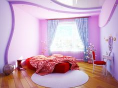 Decorative Painting Ideas   ... and Red Beds Designs in Teenage Girls Bedroom Decorating Designs Ideas