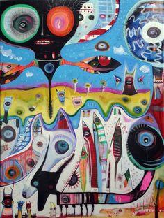 Outsider Art: Martian Double Dogs by bugatha1 on DeviantArt