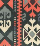 Southwest Apparel Fabric-Aztec Sheer Brown & Gold
