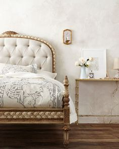 Shop Beatrice Tufted Queen Bed from John-Richard Collection at Horchow, where you'll find new lower shipping on hundreds of home furnishings and gifts. Luxury Bedroom Furniture, Wardrobe Furniture, Bed Furniture, Furniture Design, Bedroom Decor, Master Bedroom, Leather Daybed, Luxury Duvet Covers, Luxury Bedding Collections