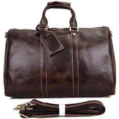 Genuine Leather Duffle Bag Handbag Large Travel Gym Luggage Weekender
