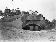 9.2-inch coastal defense gun of Drummond Battery, Kembla Fortress, New South Wales, Australia, 11 Oct 1944