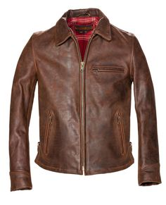 P673 - Storm - Heavyweight Oiled Nubuck Leather Biker Jacket