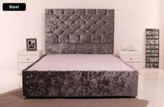 Giltedge Beds Side Opening 3FT Single Ottoman Base - Crushed Velvet My New Room, My Room, Girls Bedroom, Bedroom Ideas, Velvet Bedroom, High Headboards, Berlin Design, Crushed Velvet Fabric, Cozy Furniture