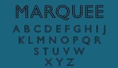 Bead Chain Marquee font by Harold's Fonts - the companion negative to Harold's pearly Bead Chain! Use them separately or layered together—perfect for posters, scrapbooking & invitations.