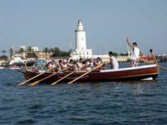 Boat racing inside Malaga seaport, July 2004