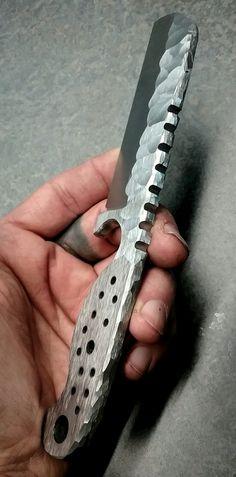 #NightTurtleKnives #NTKBlades NightTurtleKnives.etsy.com #o1toolsteel Rock Pattern Textured