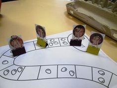 jeux de société : remplacer les pions par la photo des enfants pour un meilleur repérage