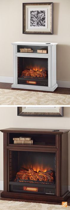 Keep warm with this Ansley fireplace and media console, featuring hand-finished wood veneers. It easily heats up to 1000 square feet with remote controlled three flame adjustments and five temperature levels.