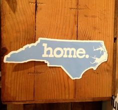North Carolina Home - Vinyl Stickers
