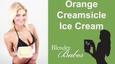 Delicious Orange Creamsicle Ice Cream. @BlenderBabes www.blenderbabes.com #vitamix #blendtec #recipe #orange #creamsicle #icecream