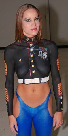 paint women body Military