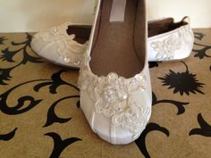 Custom Bridal Lace Flats Ballet Style Bride by LaBoutiqueBride