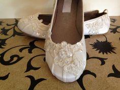 Custom Bridal Lace Flats Ballet Style Bride by LaBoutiqueBride