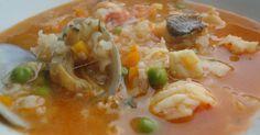 Fabulosa receta para Sopa marinera gallega. Una clásica sopa marinera, muy típica en Galicia. Es todo un reconstituyente.