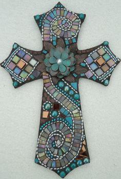 Reflections  Mosaic Cross by BrokenBeautyMosaics on Etsy, $295.00