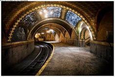City Hall Subway station in New York.  Now abandoned and closed to the public.