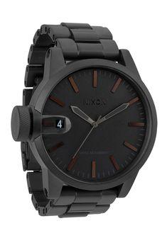 nixon - the chronicle ss watch (matte black / dark tortoise) - Nixon   80's Purple