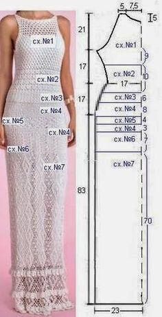 crochelinhasagulhas: Versão do vestido da estilista brasileira Giovana Dias                                                                                                                                                                                 More