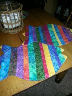 Batick quilted fish placemats