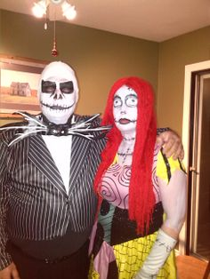 Sally and jack skellington diy couples halloween costumes couple did my sisters halloween make up and her husbands too solutioingenieria Choice Image