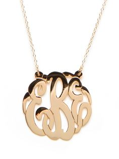 Really wish I had a middle name so I can get this BaubleBar monogram necklace!
