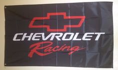 Cheverolet Racing Black Flag Banner Man Cave Garage Wall 3X5 FREE SHIPPING…