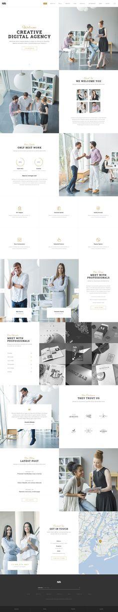 Business WordPress Theme for Creative Agencies! #wordpress #web #design