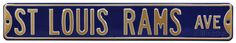St. Louis Rams Ave Steel Sign Wall Sign at AllPosters.com
