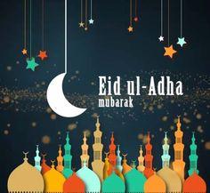Celebrate and send greetings to your friends. Free online Eid ul-Adha Mubarak ecards on Eid ul-Adha Eid Al Adha Wishes, Adha Mubarak, Holidays And Events, Ramadan, Joy, Islamic Quotes, Peace, Decoration, Ideas