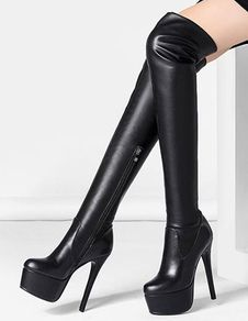 Over the Knee Boots, Thigh High Boots - Milanoo.com #highheelbootsthigh