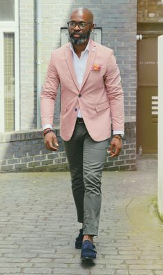 Blazer Outfits Men, Stylish Mens Outfits, Casual Outfits, Fashion Outfits, Mature Mens Fashion, Style Masculin, Man Dressing Style, Beard Styles For Men, Moda Casual