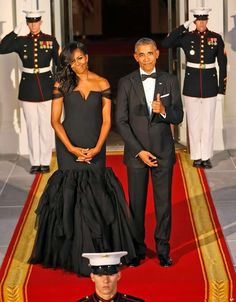 The President Barack Obama and the First Lady Michelle Obama