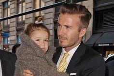 Harper Beckham is David Beckham's Stylist