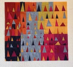 Half Square Triangles, Diamond Quilt, Color Studies, Happy Wednesday, Quilt Top, Quilt Making, Quilting Projects, Wall Design, Two By Two