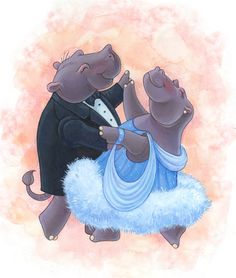 Hippos Book Illustrations | Shawna JC Tenney: Hippos Dancing