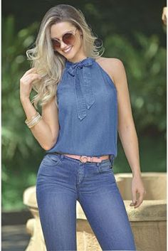30 Cute Spring Outfit Ideas That You Will Love - Outfits Women Denim Fashion, Look Fashion, Fashion Models, Fashion Outfits, Womens Fashion, Spring Fashion, Casual Jeans, Casual Chic, Casual Outfits
