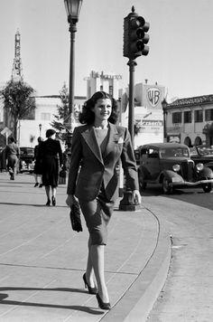 Rita Hayworth in Los Angeles, 1939.