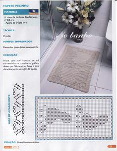 Foot print crochet rug pattern