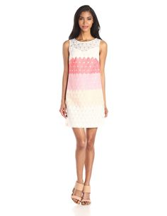 Sleeveless Embroidered Shift Dress by Donna Morgan