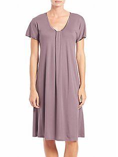 Hanro Astrid Short-Sleeve Gown